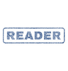 Reader textile stamp vector