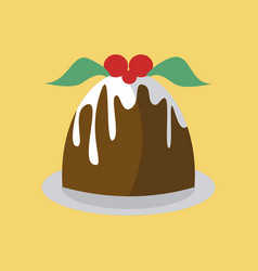 Simple pudding cake vector