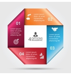 square element for infographic vector image