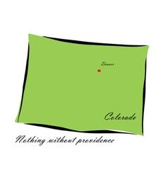 State of Colorado vector image vector image