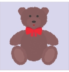 Teddy bear with brown fur vector