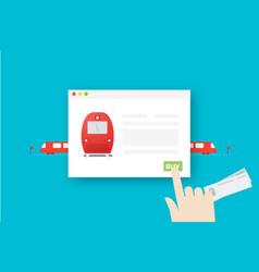 Train tickets online conceptual flat vector