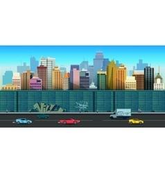 Urban buildings seamless vector