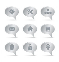 02 computer icons silver vector image vector image