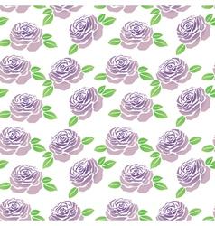 Pattern of purple flowers roses vector image