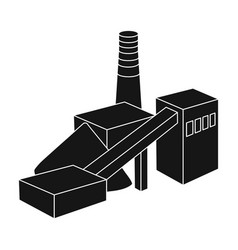 the plant with the pipefactory on processing of vector image