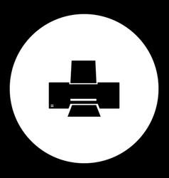Ink or laser printer simple black icon eps10 vector