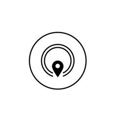 Gps solid icon mobile sign and map pointer vector