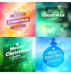 Vintage christmas elements background vector