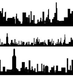 Black silhouette seamless cityscape vector image