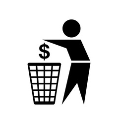 Do not waste money icon vector