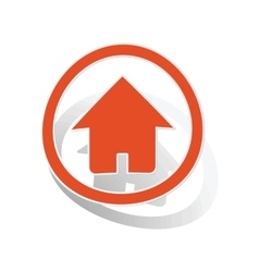 Home sign sticker orange vector