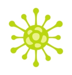 Virus flat icon vector