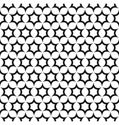 Repeat black and white star pattern vector