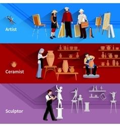 Artist ceramist sculptor banners vector