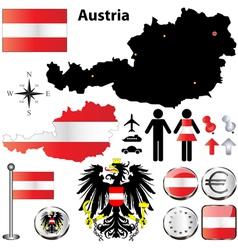 Austria map vector image vector image
