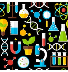Black Seamless Pattern Science Education vector image vector image
