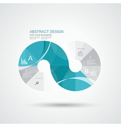 Business infographics circle style vector