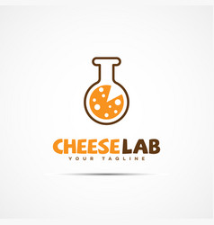 cheese lab logo vector image vector image