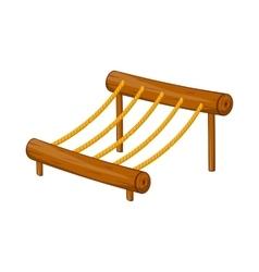 Children rope ladder icon cartoon style vector