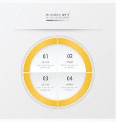 Circle presentation template yellow color vector