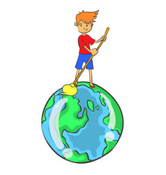clean world from environment doodle style vector image vector image