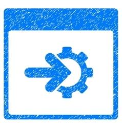 Cog integration calendar page grainy texture icon vector