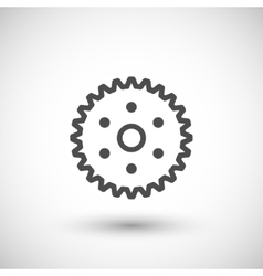 Cogwheel line icon vector