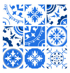 collection of ceramic tiles with different vector image
