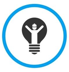 Electrician bulb icon vector