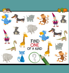find one of a kind game vector image