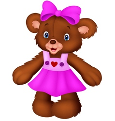 Funny female bear cartoon vector image vector image