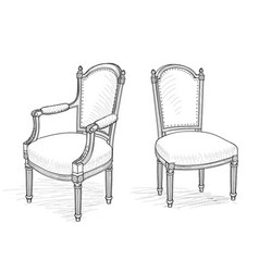 furniture set interior room furnishing chair vector image vector image