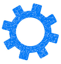 gear icon grunge watermark vector image vector image