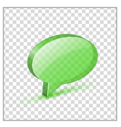 Glossy bubble vector image