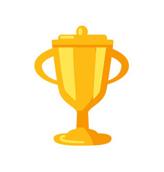 golden prize cup icon vector image vector image