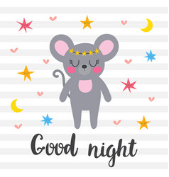 Good night inspirational quote hand drawn vector
