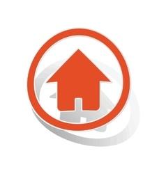 Home sign sticker orange vector image