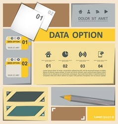 Infographics template elemets vector image vector image