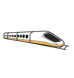 Japanese white modern high-speed train isolated vector