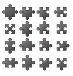 Jigsaw Icons vector image
