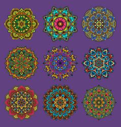 mandala traditional flower pattern flower vector image vector image