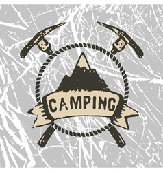 mountain camp vector image vector image