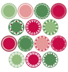Nordic circle labels vector