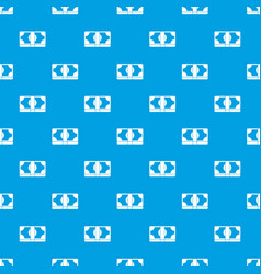 packed dollars money pattern seamless blue vector image vector image
