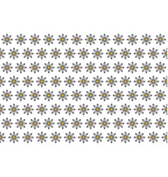 Pattern from abstract black-white flower vector