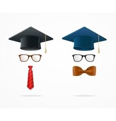 Professor graduated geek sign avatar vector