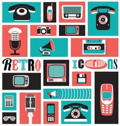 Retro Icons vector image