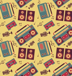 retro music pattern vector image vector image