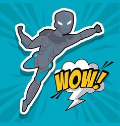 robotic superhero cartoon vector image